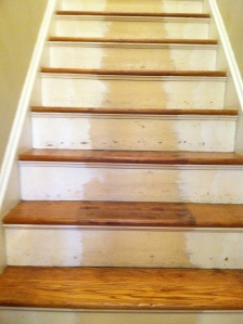 Stairs to be refinished